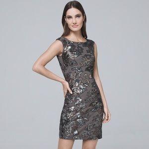 White House Black Market Sequin Detail Shift Dress